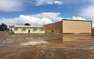 UAV hangar, support buildings and communication towers for the NSPA