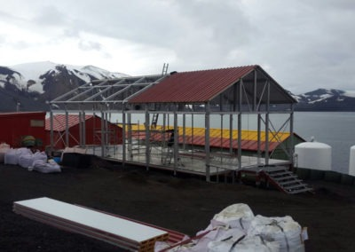 almacén modular antártica