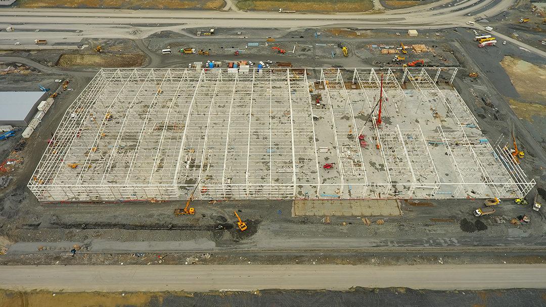 Edificio satélite de Turkish Cargo en última fase de construcción