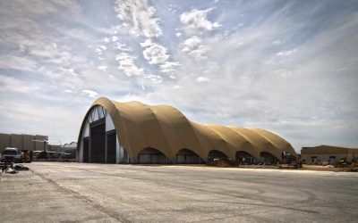 A400M hangar, designed and built by Gaptek, is rented by Airbus