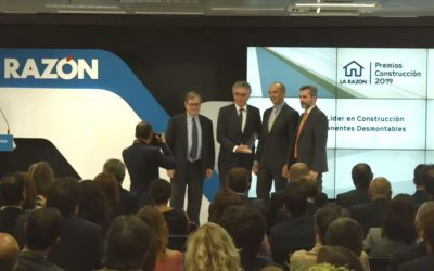 Gaptek is awarded the Leading Company Award for Permanent and Demountable Buildings at the La Razón Construction Awards 2019